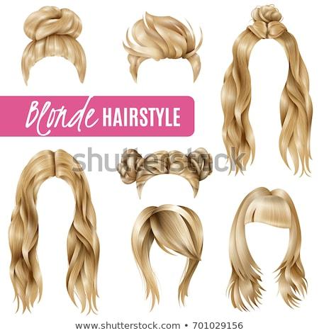 блондинка Lady длинные волосы стороны моде Сток-фото © konradbak