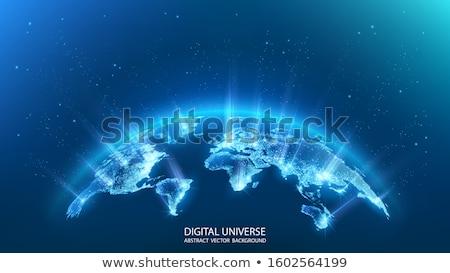 3D · streszczenie · pętla · cząstki · futurystyczny - zdjęcia stock © hypnocreative