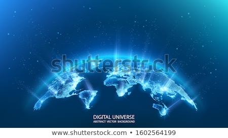 3D abstract icon glanzend naar oneindigheid Stockfoto © HypnoCreative
