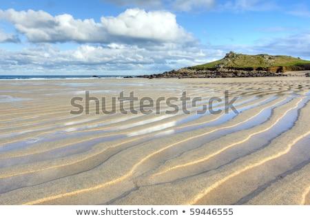 Plaj kumu cornwall plaj gökyüzü su okyanus Stok fotoğraf © latent