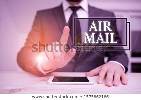 航空便 · スタンプ · 国際 · メール · 配信 - ストックフォト © stuartmiles