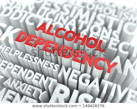Alcol dipendenza medici parola rosso Foto d'archivio © tashatuvango