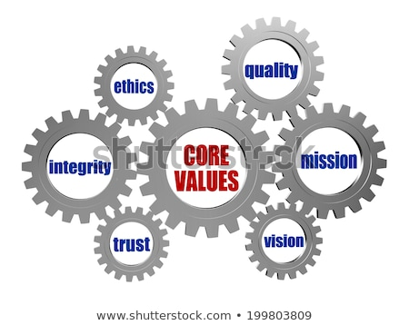 business ethics in silver grey gears Stock photo © marinini