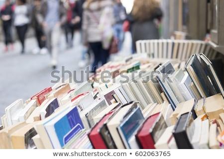 encyclopedie · boekenplank · sluiten · rij · Rood - stockfoto © hd_premium_shots