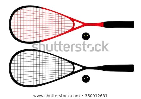 Squash raquette sport gymnase deux femmes jouer Photo stock © Kzenon