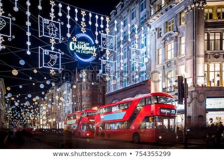 Oxford calle Navidad luces Londres compras Foto stock © chrisdorney