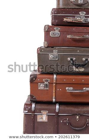starych · bagażu · skóry · vintage · torby - zdjęcia stock © witthaya