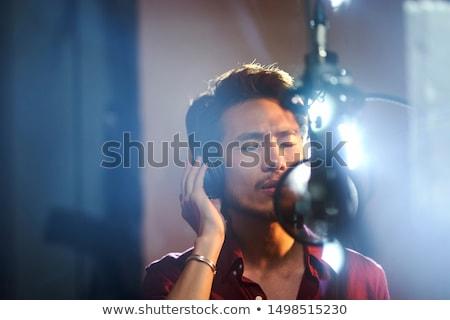 Recording vocals in the studio Stock photo © sumners