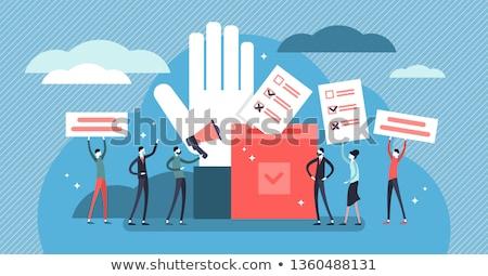 Democracia dicionário definição palavra papel informação Foto stock © devon