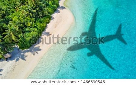 Plane at exotic destination Stock photo © c-foto