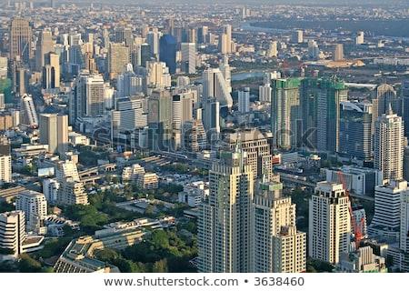 view across bangkok skyline showing office blocks and condominiu stock photo © meinzahn