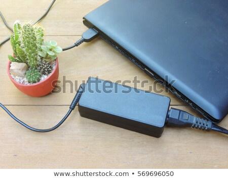 Batterij koord tabel telefoon kabel elektriciteit Stockfoto © ajt