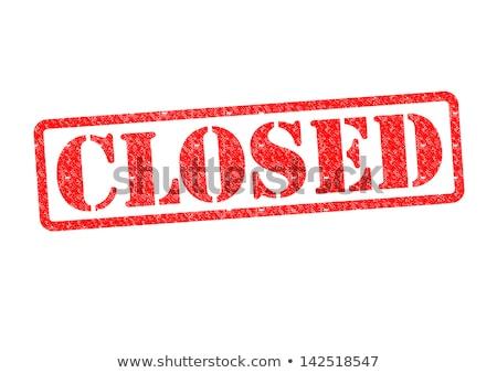 closed   red rubber stamp stock photo © tashatuvango