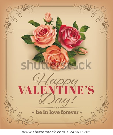 romantikus · csipke · szív · kártya · klasszikus · stílus - stock fotó © mcherevan