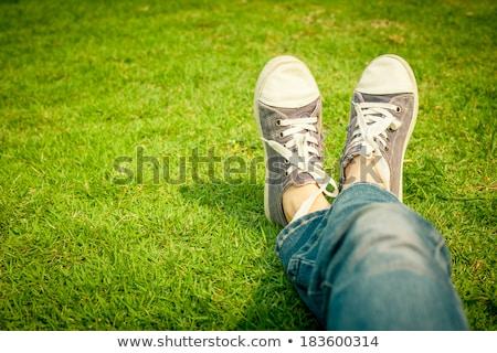Grama branco moda esportes natureza Foto stock © anmalkov