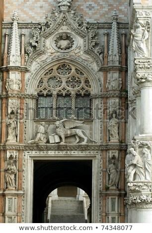 porta della carta entrance of the doges palace in venice stock photo © hofmeester