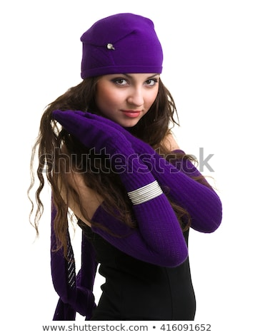 Fashionable Woman Wearing Knitwear And Cap In Studio Stock photo © monkey_business