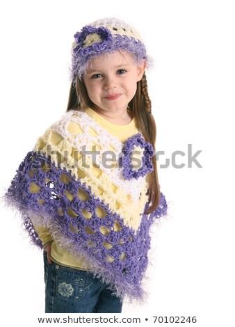 愛らしい · かわいい · 女の子 · 白 · シャツ · ジャケット - ストックフォト © nejron