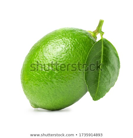 One whole lime and one half lime on white Stock photo © bloodua