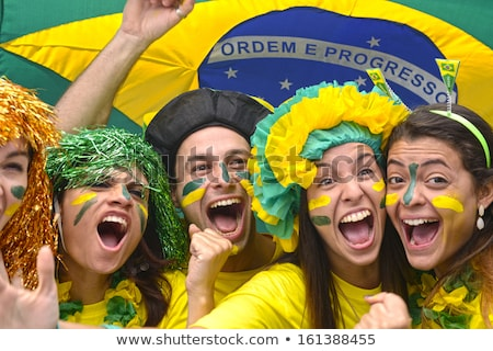 Brazilian football team fan Stock photo © Anna_Om