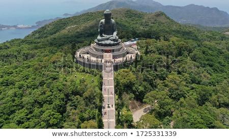 bronceado · Buda · Hong · Kong · isla · mano · arte - foto stock © leungchopan