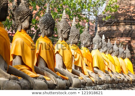 Buddha tempel Bangkok Thailand asian standbeeld Stockfoto © meinzahn