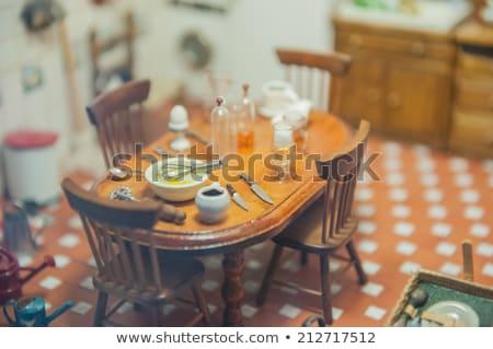 Wykonany ręcznie zabawki podróbka wnętrza szczegół widoku Zdjęcia stock © HASLOO