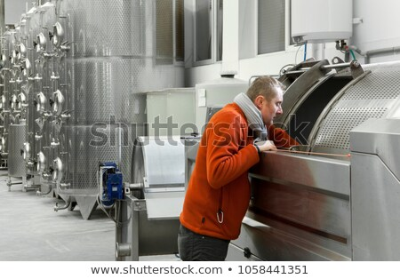 Fermentação vinícola República Checa tecnologia moderno tanque Foto stock © phbcz