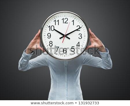 Szef czasu kobieta interesu działalności Zdjęcia stock © dolgachov