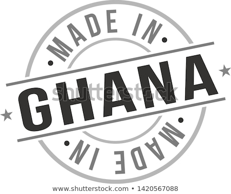 made in ghana on rubber stamp stock photo © tashatuvango