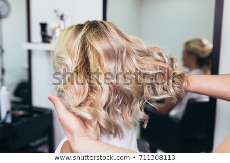 Stock photo: Haircut of blonde