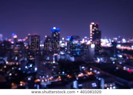 Nocturna de la ciudad vida aéreo noche centro de la ciudad Foto stock © photosebia