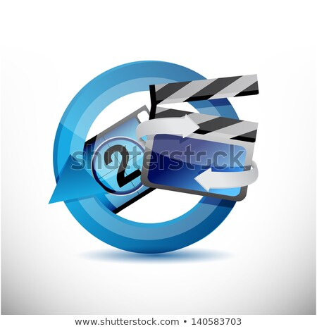 cinematography 360 design concept illustration design over white Stock photo © alexmillos