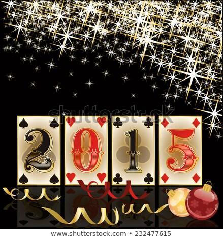 Natale · casino · buon · anno · carta · sfondo · calendario - foto d'archivio © carodi