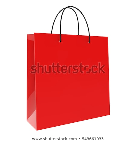Discount Percentage Symbol on Red Shopping Bag Stock photo © stevanovicigor