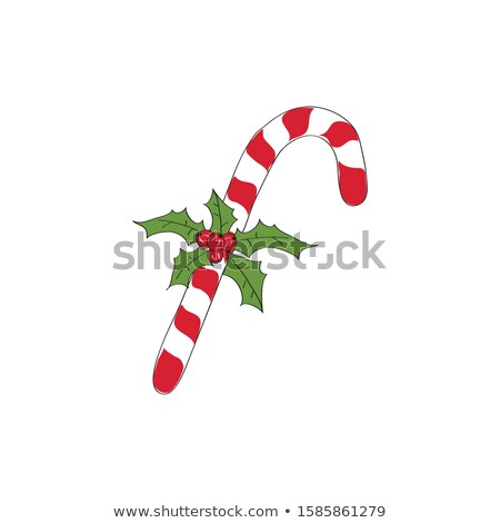Navidad dulces muérdago aislado alimentos Foto stock © kariiika