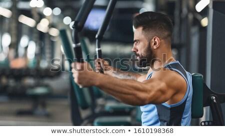 spor · salonu · cihaz · egzersiz · makine · beyaz · vücut - stok fotoğraf © uatp1