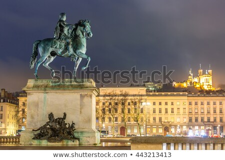 Famous Place Bellecour by night Stock photo © vwalakte