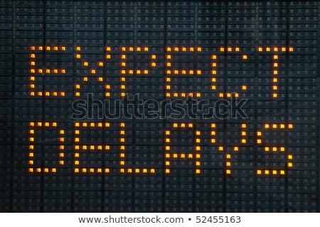 Headache on Warning Road Sign. Stock photo © tashatuvango