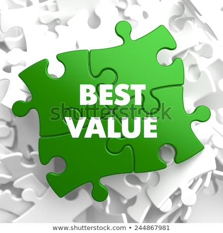 Najlepszy wartość zielone puzzle biały usługi Zdjęcia stock © tashatuvango