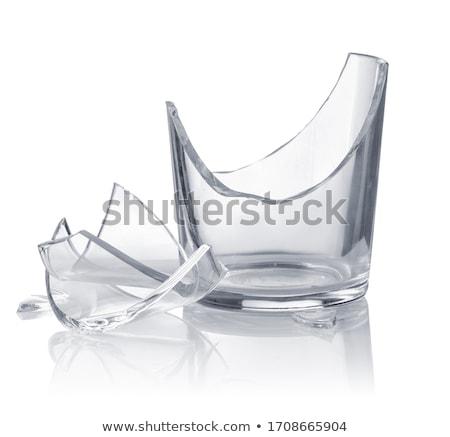 сломанной · рюмку · изолированный · белый · стекла · концепция - Сток-фото © kokimk