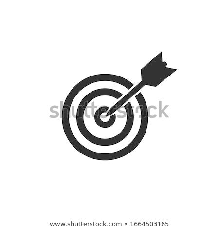Vektör hedef simge gol başarılı iş Stok fotoğraf © thanawong