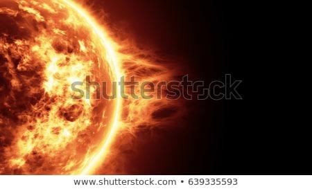 太陽 爆発 実例 火災 ファンタジー 日照 ストックフォト © alinbrotea