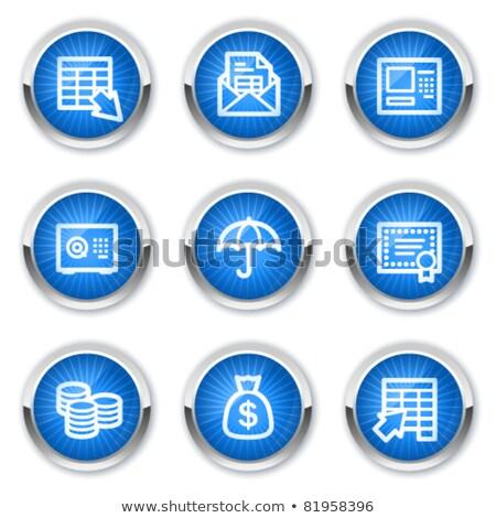 Blu vettore icona pulsante internet Foto d'archivio © rizwanali3d