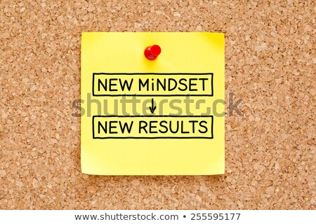 New Mindset New Results Sticky Note Stock photo © ivelin
