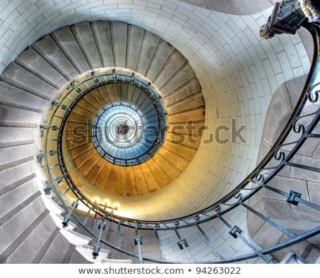 современных · винтовая · лестница · дизайна · архитектура · стали - Сток-фото © njaj