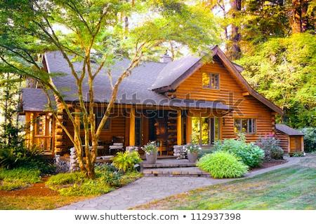 Maison bâtiment bois cadre architecture Photo stock © MichaelVorobiev