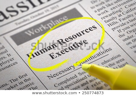 Stock photo: Human Resources Executive Vacancy in Newspaper.