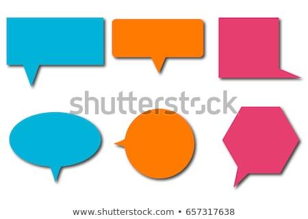 personas · discurso · burbujas · iconos · internet · hombre - foto stock © mr_vector