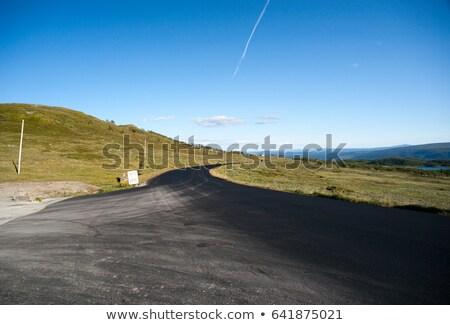 道路 · 山 · 高原 · ノルウェー · 雪 · 夏 - ストックフォト © slunicko